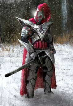 m Fighter Plate Armor Helm Cloak Sword male farmland winter snow Mixed forest hills adedrizils-shrine Flower Knight by eddie-mendoza lg Fantasy Character Design, Character Inspiration, Character Art, Fantasy Armor, Medieval Fantasy, Knight Art, Dragon Knight, Dnd Characters, Fantasy Characters