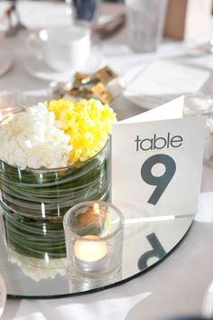 Table Numbers for Wedding Reception Set by LittleLadyCompany
