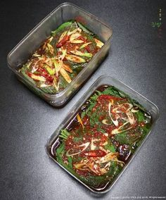 깻잎김치 (레시피 수정) : 네이버 블로그 Easy Cooking, Cooking Recipes, Korean Food, Kimchi, Food Plating, Japchae, Cabbage, Food And Drink, Healthy Eating