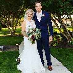 one of our Mia Bella Brides! #wedding #brideandgroom #beautifulcouple #married #justmarried #weddingphotography #weddings #weddingdress #customgowns #suitedup #miabellacouturebride #miabellacouture