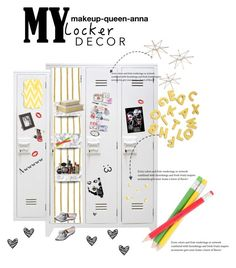 """""""locker"""" by makeup-queen-anna ❤ liked on Polyvore featuring interior, interiors, interior design, home, home decor, interior decorating, Uttermost, Kikkerland, PATH and Pupa"""