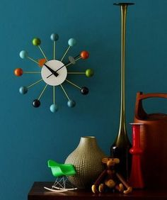 George Nelson Style http://www.cadesign.ie/furniture/clocks/nelson-style-ball-clock/