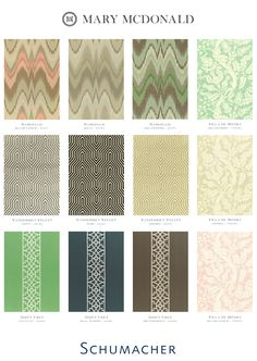 Love the color with pattern strip down the middle.  Angie Helm Interior Design - Mary McDonald