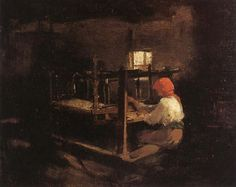Woman Spinning, Nicolae Grigorescu