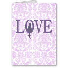The quiet grace of a feline silhouette accentuates the message of Love on this sweet Valentine's Day Card.