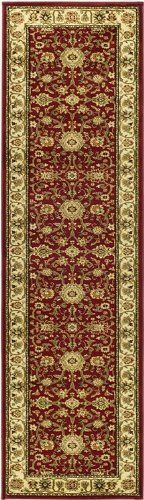 Safavieh Lyndhurst Collection LNH212F Red and Ivory Area Runner, 2-Feet 3-Inch by 16-Feet by Safavieh. $109.99. This rug features a red background and ivory border, and displays beautiful panel colors of green, red, ivory, rust and beige. 100% Polypropylene Pile. The traditional, mahal style of this rug will give your room a elegant accent. The powerloomed construction adds durability to this rug, ensuring it will be a favorite for many years. This runner measu...