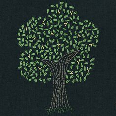Firefly Tree embroidery pattern by Wendi Gratz, via Flickr