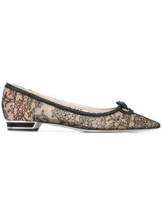 RENÉ CAOVILLA lace pointed ballerinas. #renécaovilla #shoes #슈즈
