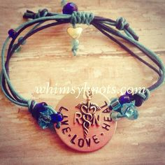 Nurse Bracelet  great for layering/stacking or by WhimsyKnots, $22.00