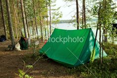 In a camping. Royalty Free Stock Photo