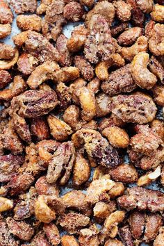 Roasted Cinnamon Sugar Candied Nuts | The Recipe Critic Cinnamon Roasted Pecans, Roasted Walnuts, Candied Walnuts, Cinnamon Nuts Recipe, Glazed Pecans, Sugared Nuts Recipe, Nut Mix Recipe, Nuts 4 Nuts Recipe, Sweet Roasted Nuts Recipe