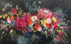 Floral painting by South African Artist Heidi Shedlock South African Artists, Color Inspiration, Painting & Drawing, Floral Design, Drawings, Creative, Flowers, Paintings, Blog