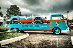 Gulf Porsche #5 orange & blue