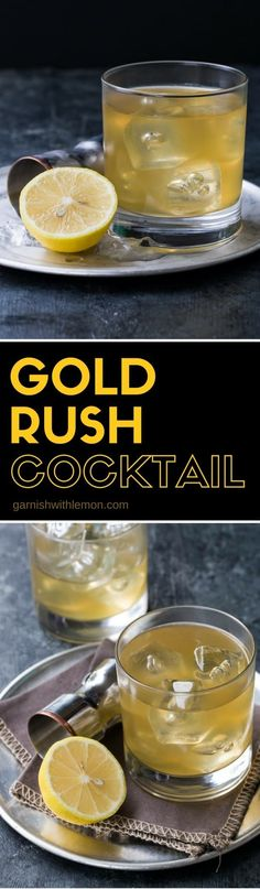The Gold Rush Cocktail is our favorite fall sipper, filled with belly-warming bourbon, ginger liqueur and fresh lemon juice.