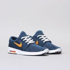 Nike Stefan Janoski Max Azul/Naranja