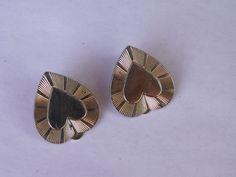 VTG 60s Heart earrings clip by dagutzyone on Etsy, $25.00