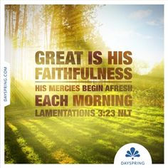 Great is His Faithfulness