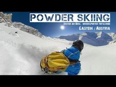 Deep Powder snow skiing in Østerrike / Powder skiing in Austria Bad Gastein, Snow Skiing, Deep, Sport, Location, Austria, Youtube, Powder, Nature