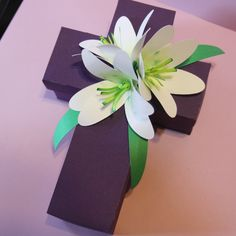 Easter Cross Box & Lillies designed by SVG Attic