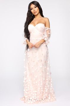 Available In Floral Applique Mesh DressOff ShoulderSweetheart NecklineFull LiningShell: PolyesterLining: Polyester Pink And White Dress, Black Velvet Dress, Lace Dress Black, Mesh Dress, Tulle Dress, Strapless Dress Formal, Neon Dresses, Event Dresses, Ball Dresses
