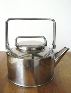 Vintage Stainless Steel Kettle by MarketHome on Etsy, $32.00