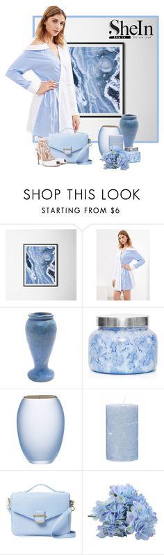 """Shein surplice wrap dress"" by lorrainekeenan ❤ liked on Polyvore featuring Capri Blue, Broste Copenhagen, Cynthia Rowley and Gianvito Rossi"