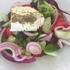 Greek salad for every meal #Greece #meganisi #holibobs #kitchenprovisions