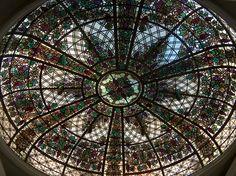 Stained glass ceiling in Casa Loma Castle, Toronto Canada Toronto Neighbourhoods, Toronto Travel, Glass Ceiling, Toronto Canada, Beveled Glass, Beauty Art, Canada Travel, Glass Design, Gta