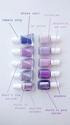 All You Need Is, Grunge Nails, Mani Pedi, Essie, Oysters, The Dreamers, Nail Designs, Lavender, Nail Polish
