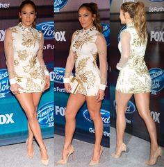 Jennifer Lopez American Idol XlV Finalists Party