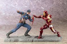 #Kotobukiya captain america #civil war #movie & iron man mark 46 artfx+ statue se,  View more on the LINK: http://www.zeppy.io/product/gb/2/291951859326/