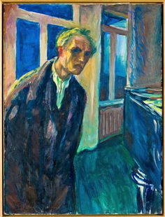 """""""The Night Wanderer,"""" 1923-24, a self-portrait by Munch in his later years via Looking at Edvard Munch, Beyond 'The Scream' - The New York Times"""