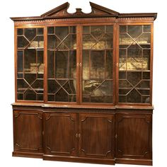 An 18th C. English Chippendale Breakfront Bookcase / China Bookcase 1stdibs