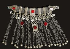 Yemen | Silver and glass necklace | ca. early 20th century