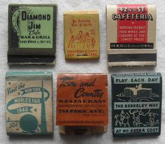 All sizes | 1930s & 1940s Vintage Matchbooks