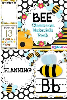 """If you are wanting to decorate your classroom with bees, this """"BEE""""autiful BEE-themed pack will be a bright and colorful addition to your classroom! $"""