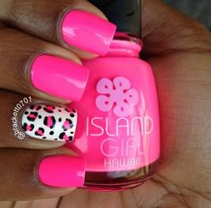 Hot pink nails, I need these!!