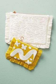 Slide View: 3: Fringed Silk Pouch