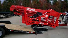 Driving the equipment off the trailer Trailer Manufacturers, Equipment Trailers, Kubota, Nerf