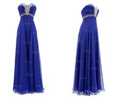 royal blue prom dress long prom dress sweetheart prom by fitdesign, $119.00