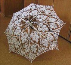 crocheted umbrella | Crochet umbrella