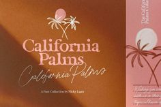 California Palms Fonts & Graphics ~ Display Fonts ~ Creative Market, typography, graphic design, branding, web design #ad