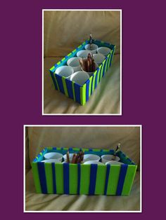 Good This Is An Easy Way To Storage Your Kids Crayons, Pencils, Etc. Have Fun  Decorating Your Shoe Box With Your Kids. Only Need To Use: Shoe Box,plastic  Cups, ...