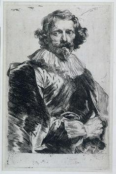 Portret van Lucas Vorsterman I, Anthony van Dyck, 1630