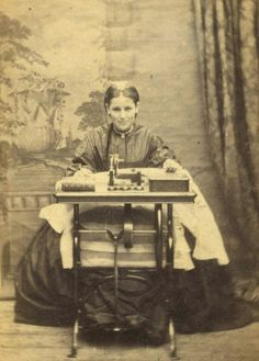 Love this old photo...can you see she is even smiling!!! The love of sewing is eternal!!
