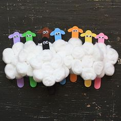 Craft Stick Flock of Sheep by Amanda Formaro for Spoonful.com