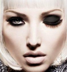 black eyeshadow...love it