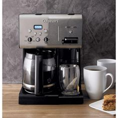 Cuisinart ® Programmable 12 Cup Coffee Maker with Hot Water System - Crate and Barrel Coffee Maker With Timer, Best Coffee Maker, Drip Coffee Maker, Cappuccino Maker, Cappuccino Machine, Espresso Maker, Espresso Machine, Coffee Brewer, Coffee Cups