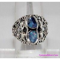 Artisan Jewelry 925 Sterling Silver Aqua Blue Genuine Australia..