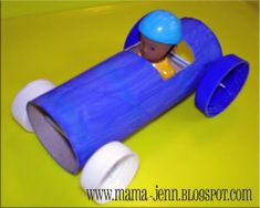 A race car would be super fun to design and Mama Jenn shows just how to do it!  Kids can personalize their own cars and then race them against each other for an extra good time.